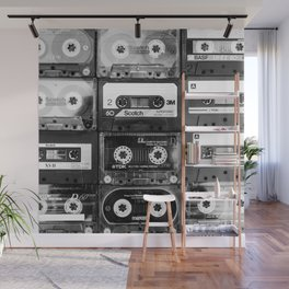Something Nostalgic - black and white #decor #buyart #society6 Wall Mural