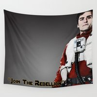 poe Wall Tapestries featuring Poe by KL Design Solutions