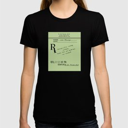Prescription for Lee Thargic from Dr. B. Ed Thyme T-shirt