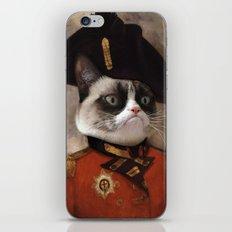 Angry cat. Grumpy General Cat.  iPhone Skin
