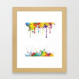 Paint Watercolor Splatter Framed Art Print