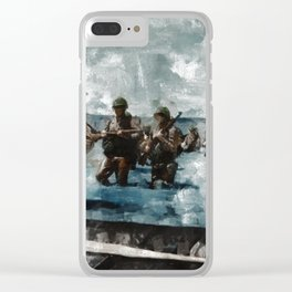 D Day Landings,WWII Clear iPhone Case