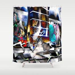 Bowery Graffiti Shower Curtain