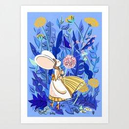 Yellow Dandellion Art Print