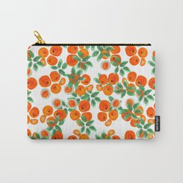 Fresh Orange Juice Pattern Carry-All Pouch