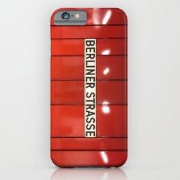 Berlin U-Bahn Memories - Berliner Strasse U7 iPhone Case