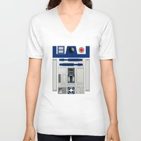 daenerys V-neck T-shirts featuring R2D2 by Smart Friend