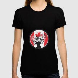 Canadian Bike Mechanic Canada Flag Icon T-shirt