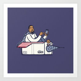 Can Ye Touch The Sky - Purple Art Print