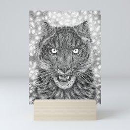 Hunter's Gaze Black and White Mini Art Print