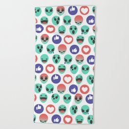 Alien Reactions Beach Towel