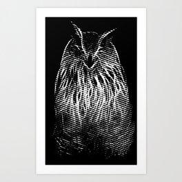 The smile of Mr. Owl Art Print
