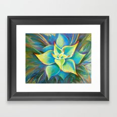 Succulent  Flower Framed Art Print