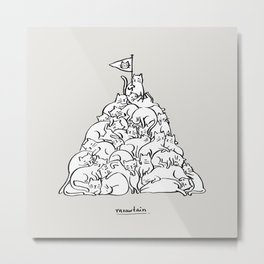 Meowtain Metal Print