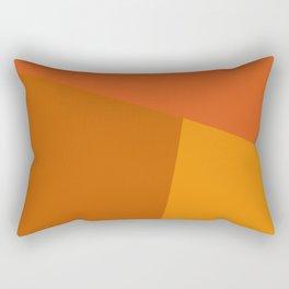 dégradé trapèze orange sombre Rectangular Pillow