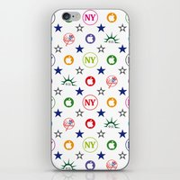 yankees iPhone & iPod Skins featuring New-York Yankees 9/11 Vintage Laptop Skin by CHR Design Posters