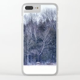Purple Woods Clear iPhone Case