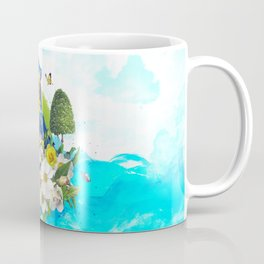 FLORAL PARROT Coffee Mug