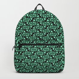 Fish Tails Oceanic Cool Mint Green Turquoise Green Bubbles Abstract Spirit Organic Backpack