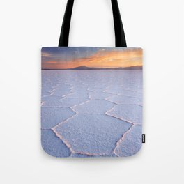 II - Salt flat Salar de Uyuni in Bolivia at sunrise Tote Bag
