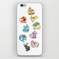 umbreon iPhone & iPod Skins featuring Eeveelutions by Leonie X. Li