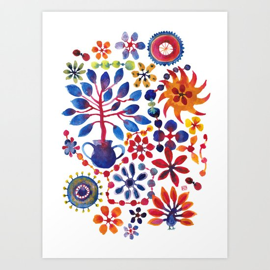 MAGIC TREE ON WHITE Art Print