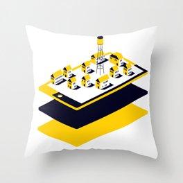 One little Village Throw Pillow