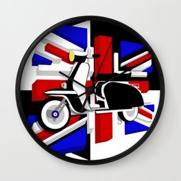Scooter UK Wall Clock