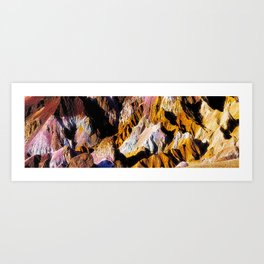 Artist Palette in California's Death Valley National Park. Art Print