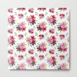 Flower Pattern #5 Metal Print