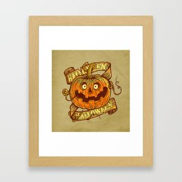 Halloween dark khaki Framed Art Print