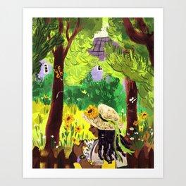 Artist in the Sunshine Art Print