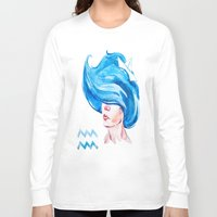 aquarius Long Sleeve T-shirts featuring Aquarius by Aloke Design