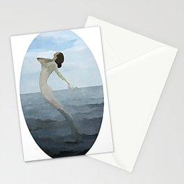 Dancing Mermaid - Kubistika by Boris Draschoff Stationery Cards