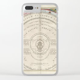 Keller's Harmonia Macrocosmica - Brahe's Calculations of the Courses of the Planets 1661 Clear iPhone Case