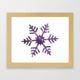 Universe in Snowflake_02 Framed Art Print