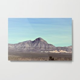 Red Rock Canyon Conservation Area - Turtle Head Mountain Metal Print