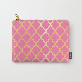 Moroccan Gold & Pink Carry-All Pouch