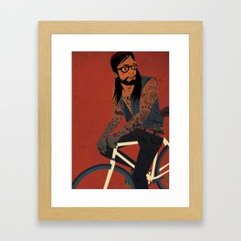 Bicycles & Tattoos (2) Framed Art Print