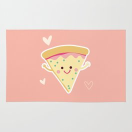 My love for PIZZA Rug