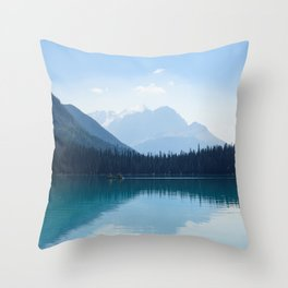 Afternoon on Emerald Lake Throw Pillow