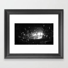Rain and Headlights Framed Art Print