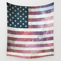 patriotic Wall Tapestries featuring PATRIOTIC by alfboc