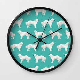 Great Pyrenees dog portrait pet gifts for dog person with unique dog breeds by pet friendly Wall Clock