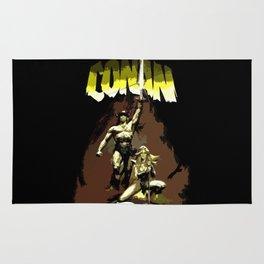 """Conan """"The Barbarian"""" * Conan, el bárbaro * Vintage Movie Inspiration Rug"""