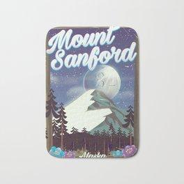 Mount Sanford Alaska Bath Mat