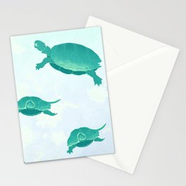 Song of the turtle- save our seas Stationery Cards