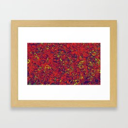 Ipad skins, Iphone, Computer, Canvas, Print, Red, Abstract, Funky Framed Art Print