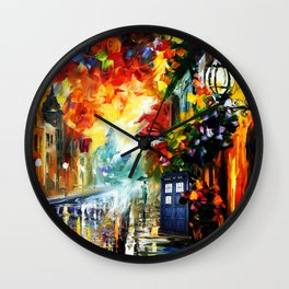 Starry Tardis Night Wall Clock