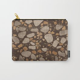 Terrazzo - Mosaic - Wooden texture and gold #3 Carry-All Pouch